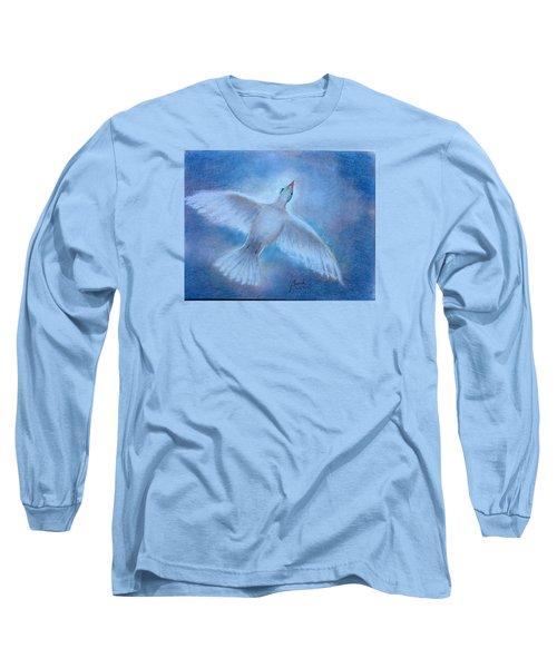 Hope And Peace Long Sleeve T-Shirt by Laila Awad Jamaleldin