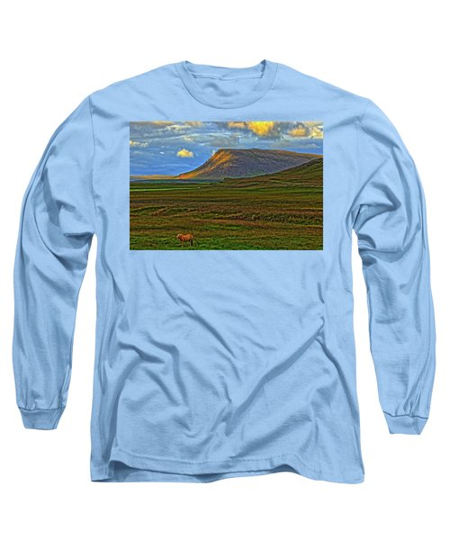 Long Sleeve T-Shirt featuring the photograph Horse And Sky by Scott Mahon