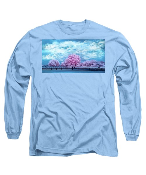 Long Sleeve T-Shirt featuring the photograph Horse Country In Pink by Louis Ferreira
