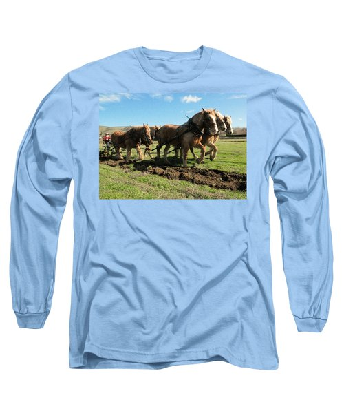 Long Sleeve T-Shirt featuring the photograph Horse Power by Jeff Swan