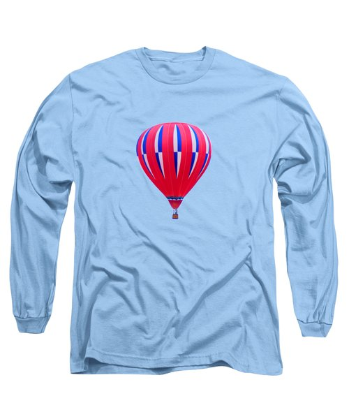 Hot Air Balloon - Red White Blue - Transparent Long Sleeve T-Shirt