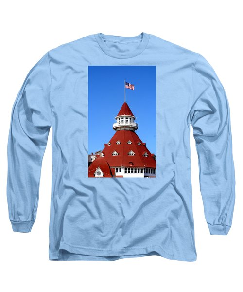 Hotel Del Coronado Long Sleeve T-Shirt by Christopher Woods