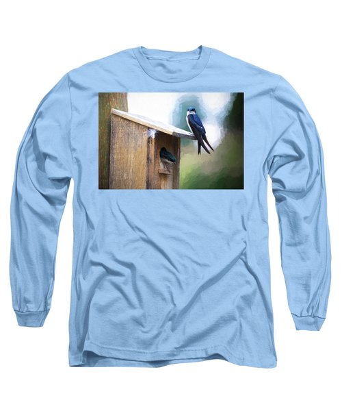 Long Sleeve T-Shirt featuring the photograph House Of Bluebirds by James BO Insogna