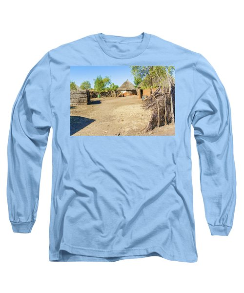Houses In Rashid,  Sudan Long Sleeve T-Shirt by Marek Poplawski