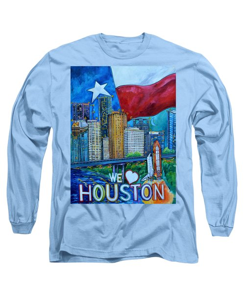Houston Montage Long Sleeve T-Shirt by Patti Schermerhorn