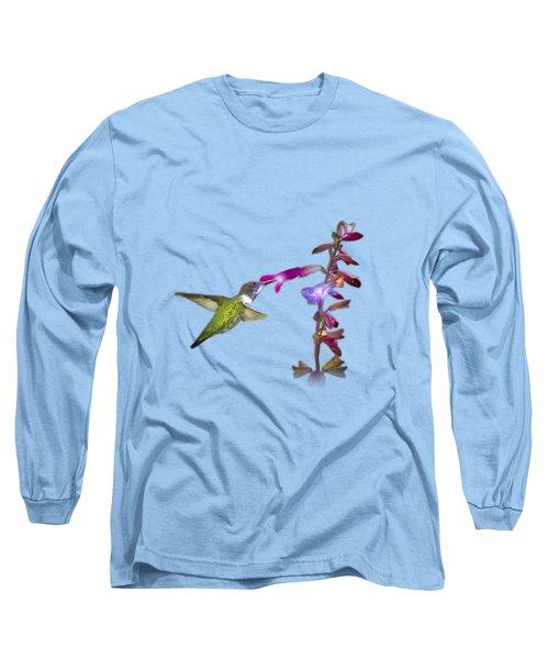 Hummingbird Design Long Sleeve T-Shirt