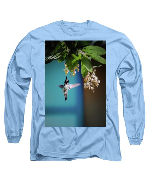 Hummingbird Moment Long Sleeve T-Shirt by Mark Dunton