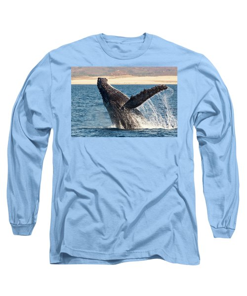 Humpback Whale Breaching Long Sleeve T-Shirt