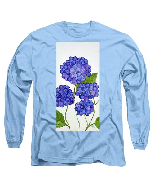 Hydrangea Long Sleeve T-Shirt by Reina Resto