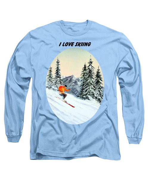 I Love Skiing  Long Sleeve T-Shirt