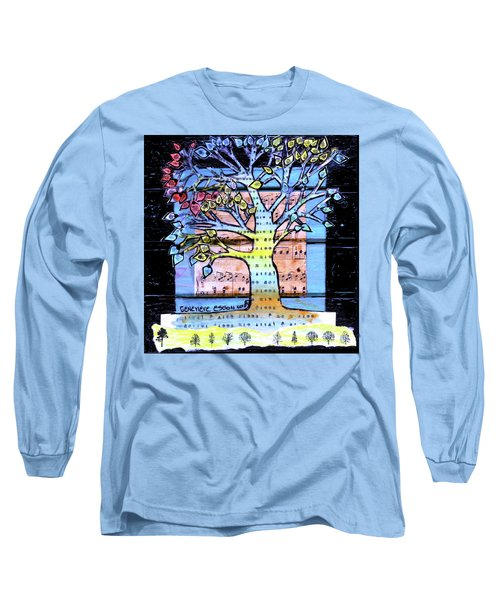 Long Sleeve T-Shirt featuring the painting I Love Trees by Genevieve Esson