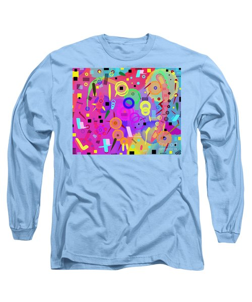 Long Sleeve T-Shirt featuring the digital art I Once Was Happy by Silvia Ganora