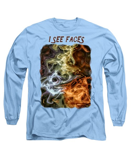I See Faces Long Sleeve T-Shirt