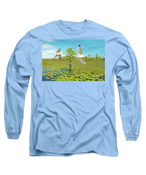 Ibis At Okefenokee Long Sleeve T-Shirt