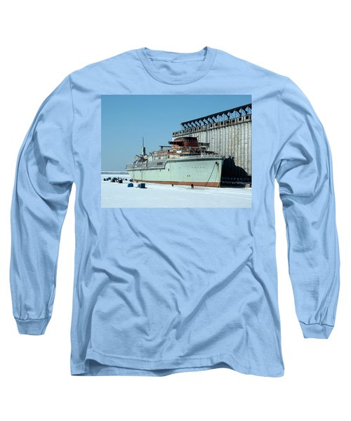 Ice Fishing On Lake Erie Long Sleeve T-Shirt