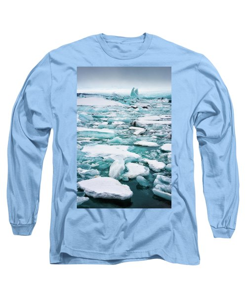 Long Sleeve T-Shirt featuring the photograph Ice Galore In The Jokulsarlon Glacier Lagoon Iceland by Matthias Hauser