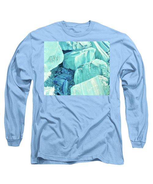 Ice Pushed Up On A Lake Long Sleeve T-Shirt