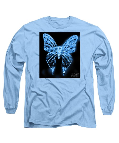 Ice Wing Butterfly Long Sleeve T-Shirt by Cassandra Buckley