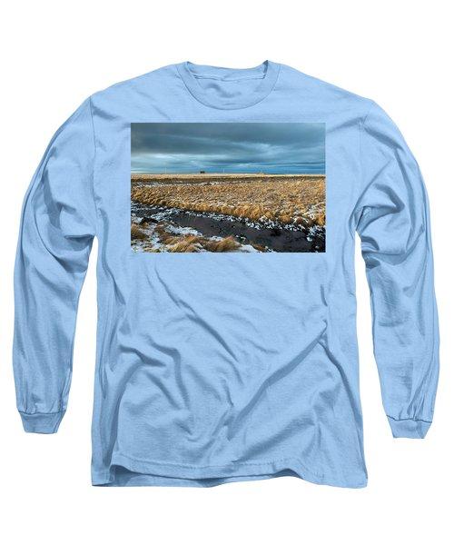 Long Sleeve T-Shirt featuring the photograph Icelandic Landscape by Dubi Roman