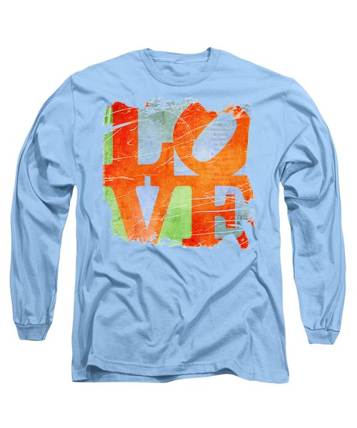Iconic Love - Grunge Long Sleeve T-Shirt by Paulette B Wright