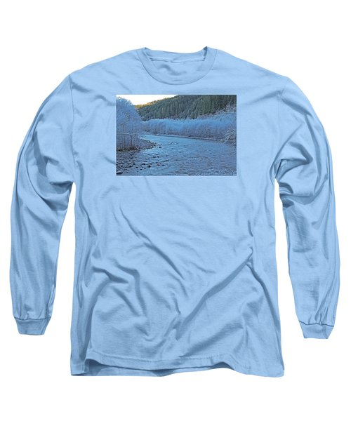 Long Sleeve T-Shirt featuring the photograph Icy River by Jack Moskovita