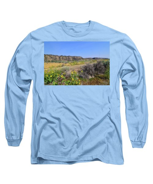 Idaho Landscape Long Sleeve T-Shirt by Bonnie Bruno