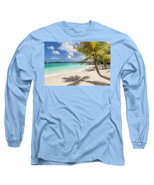 Long Sleeve T-Shirt featuring the photograph Idyllic Salomon Beach by Adam Romanowicz