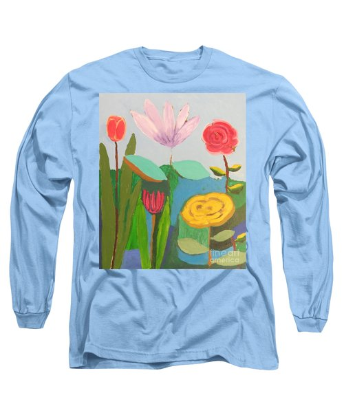 Imagined Flowers One Long Sleeve T-Shirt by Rod Ismay