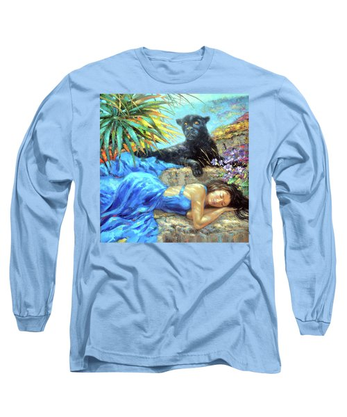 In One's Sleep Long Sleeve T-Shirt by Dmitry Spiros