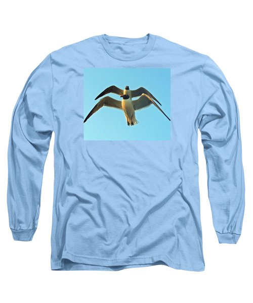 Long Sleeve T-Shirt featuring the photograph In Tandem At Sunset by Sandi OReilly