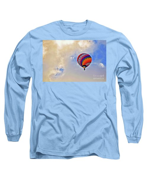 Long Sleeve T-Shirt featuring the photograph In The Clouds by Gina Savage