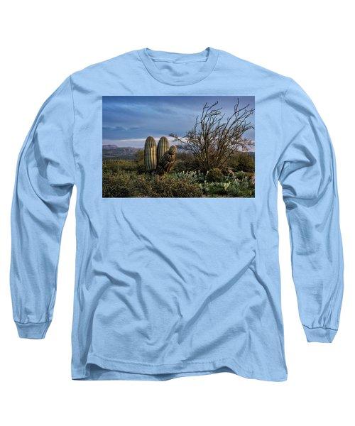 Long Sleeve T-Shirt featuring the photograph In The Green Desert  by Saija Lehtonen