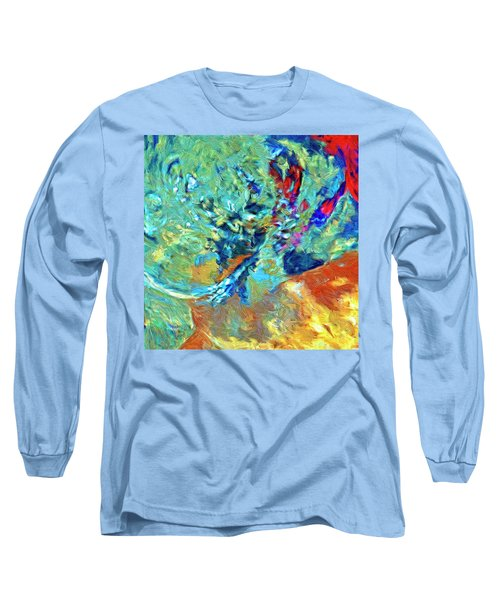 Long Sleeve T-Shirt featuring the painting Incursion by Dominic Piperata