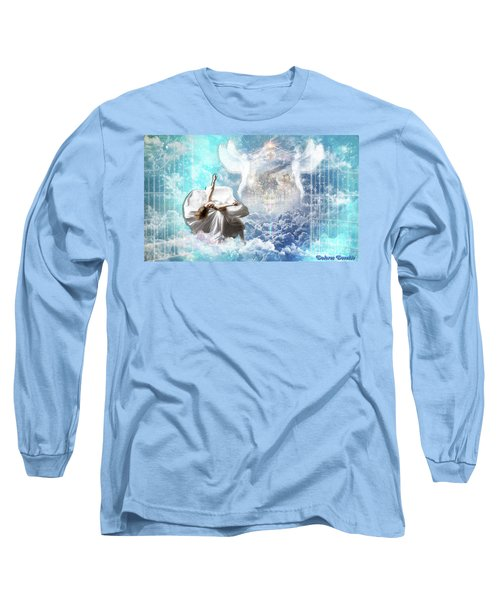 Long Sleeve T-Shirt featuring the digital art Inner Courts by Dolores Develde