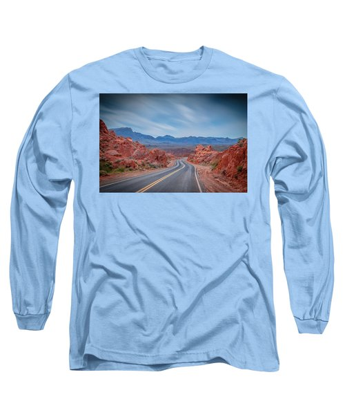 Into The Valley Of Fire Long Sleeve T-Shirt by Mark Dunton