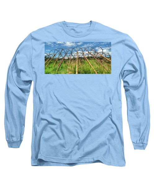 Irrigation Pipes 1 Long Sleeve T-Shirt by Jerry Sodorff