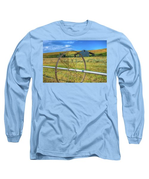 Irrigation Water Wheel Hdr Long Sleeve T-Shirt by James Hammond