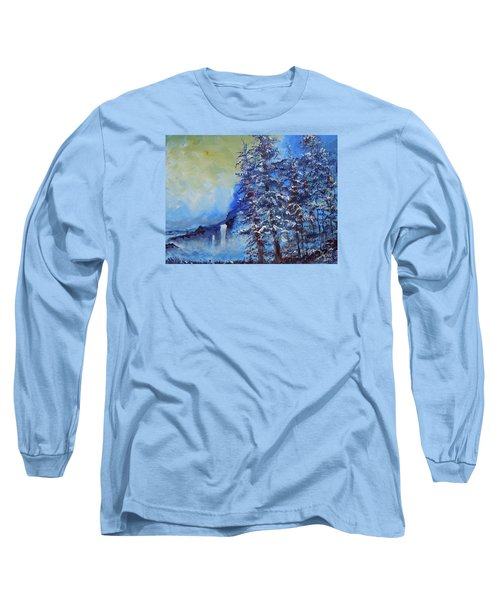 Long Sleeve T-Shirt featuring the painting It's Cold Out by Dan Whittemore