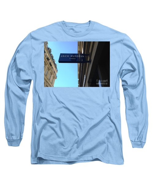 Long Sleeve T-Shirt featuring the photograph Jack Russell Paris by Therese Alcorn