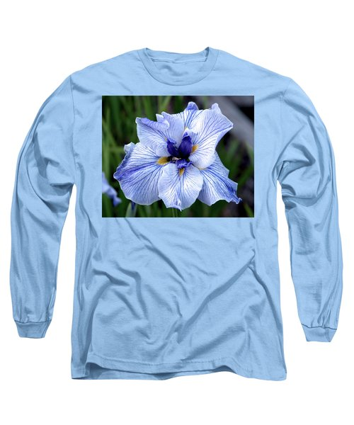 Japanese Water Iris In Blue 2695 H_3 Long Sleeve T-Shirt