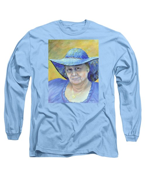 Long Sleeve T-Shirt featuring the painting Johanna by Luczay