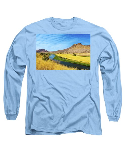 John Day River Panoramic View Long Sleeve T-Shirt