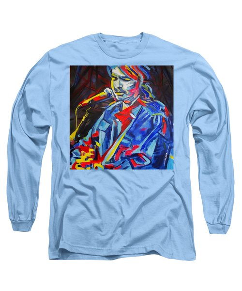 John Prine #3 Long Sleeve T-Shirt by Eric Dee