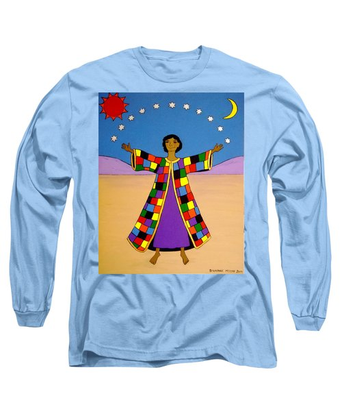 Joseph And His Coat Of Many Colours Long Sleeve T-Shirt by Stephanie Moore