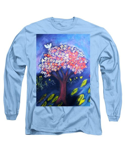 Long Sleeve T-Shirt featuring the painting Joy by Winsome Gunning