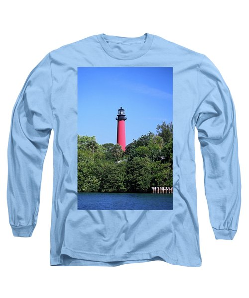Jupiter Lighthouse Long Sleeve T-Shirt by Sally Weigand