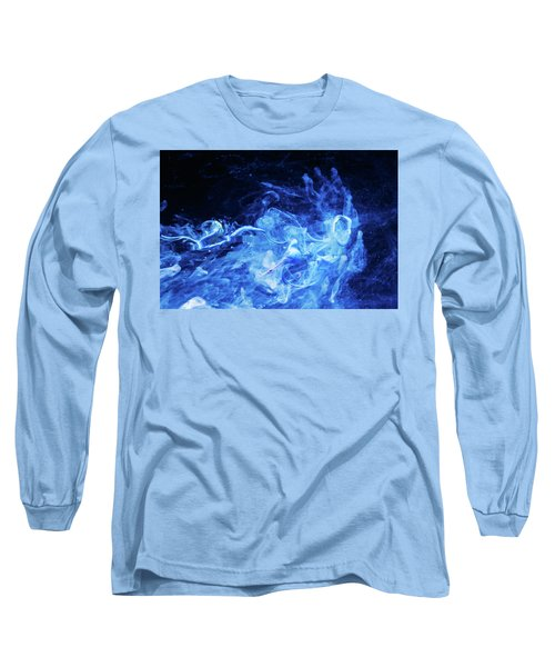 Just Passing By - Blue Art Photography Long Sleeve T-Shirt by Modern Art Prints
