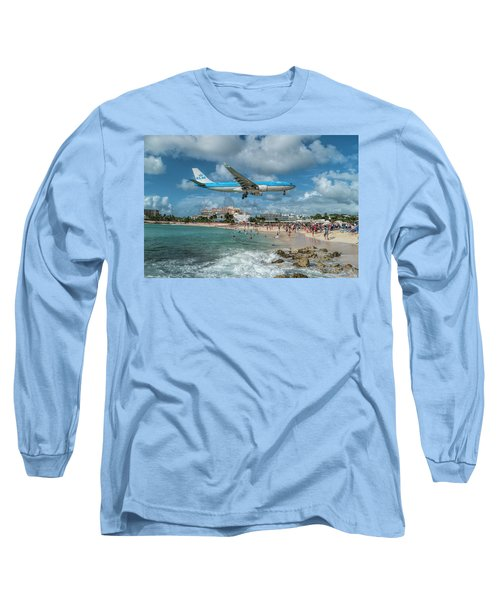 K L M A330 Landing At Sxm Long Sleeve T-Shirt
