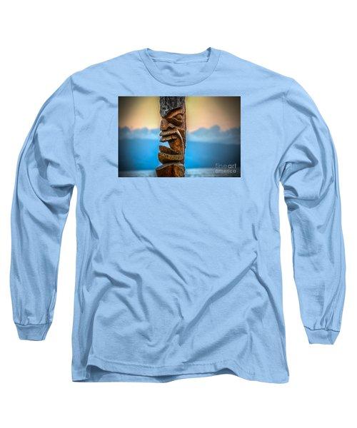 Long Sleeve T-Shirt featuring the photograph Ka'anapali Tiki by Kelly Wade