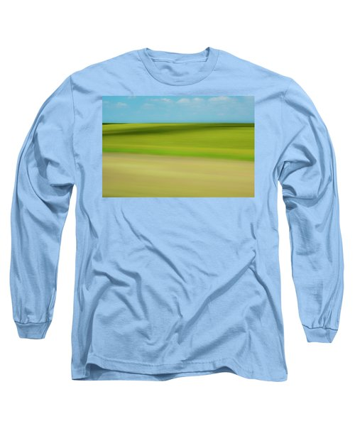 Long Sleeve T-Shirt featuring the mixed media Kansas by Shara Weber
